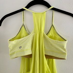 Rare lululemon Neon Open-Sided Drapey Banded Tank